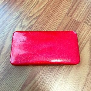 Sparkly Red Snap Closure Wallet